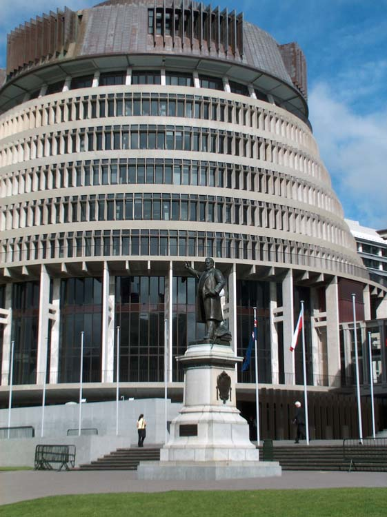 North Island - Wellington - The Beehive Houses of Parliament